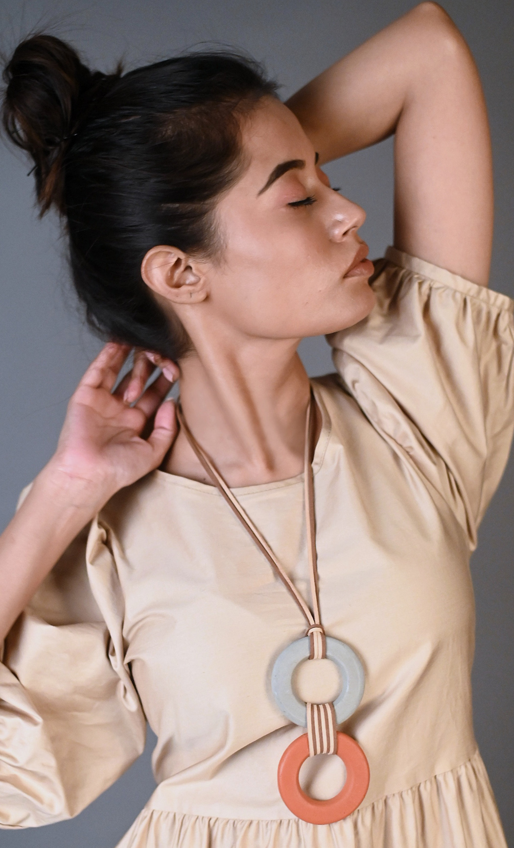 Brown Blair Long Statement Necklace - Buy Online