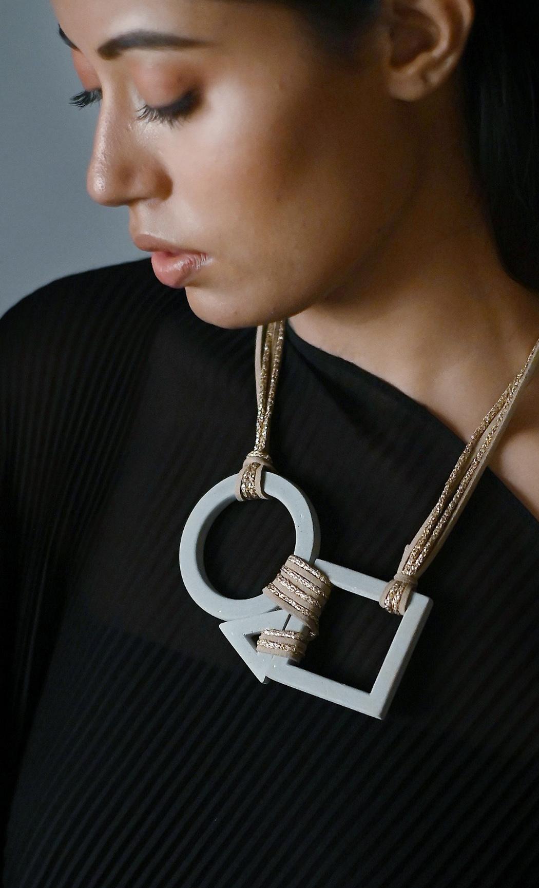 Grey Balbis Long Statement Necklace - Buy Online