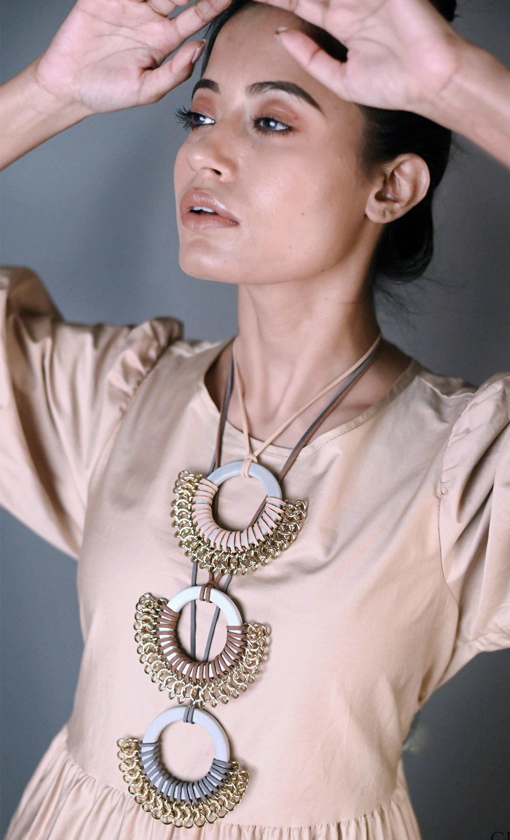 Grey Mobius Long Statement Necklace - Buy Online