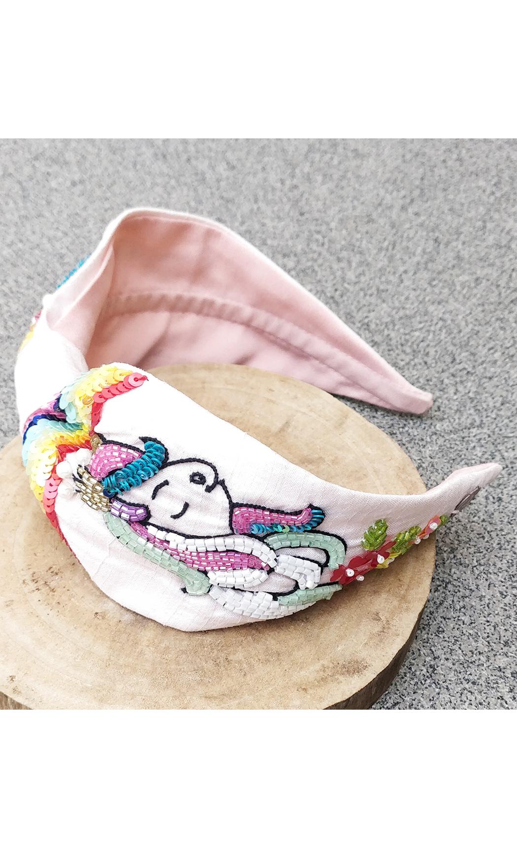 Pink Rainbow Unicorn Hairband. Buy Online