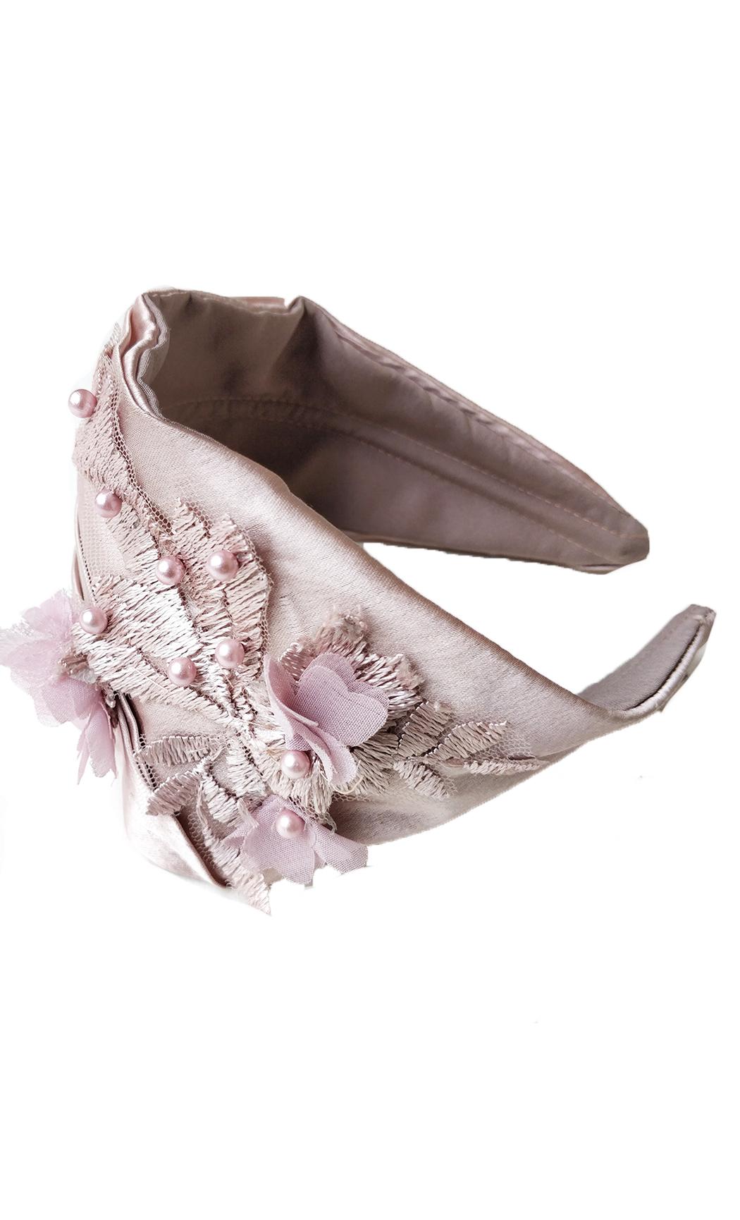 Light Pink 3d Drape Hairband. Buy Online