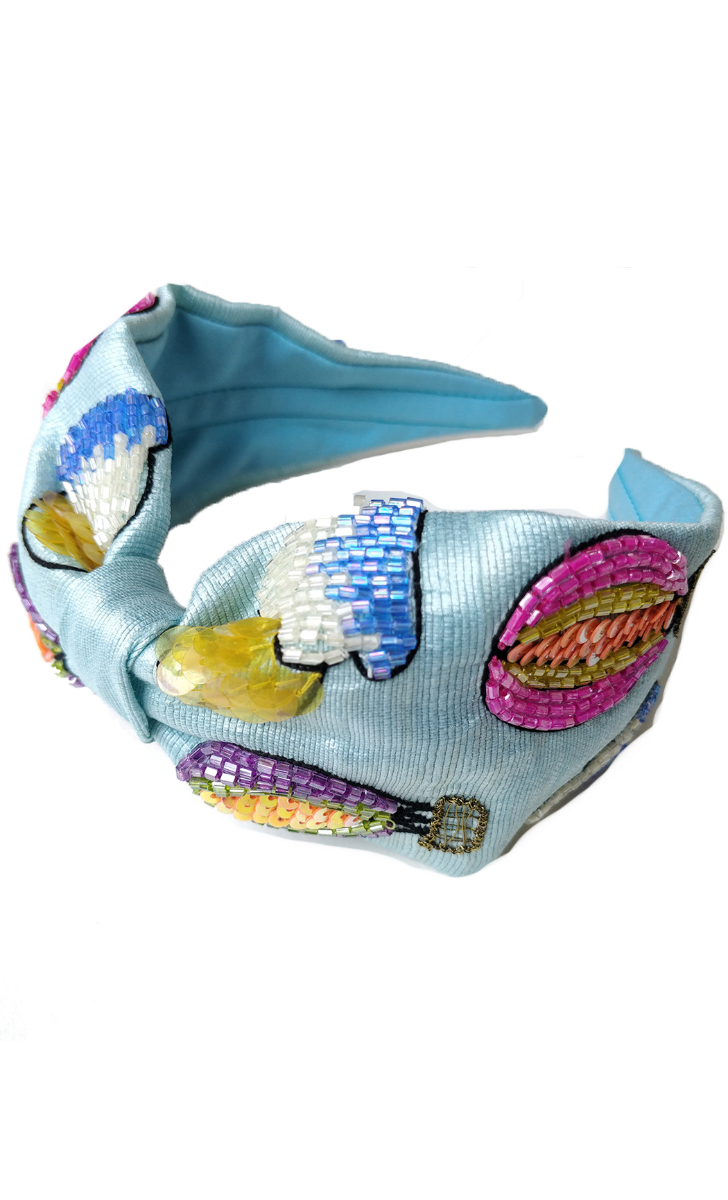 Blue Hot Air Balloons Hairband. Buy Online
