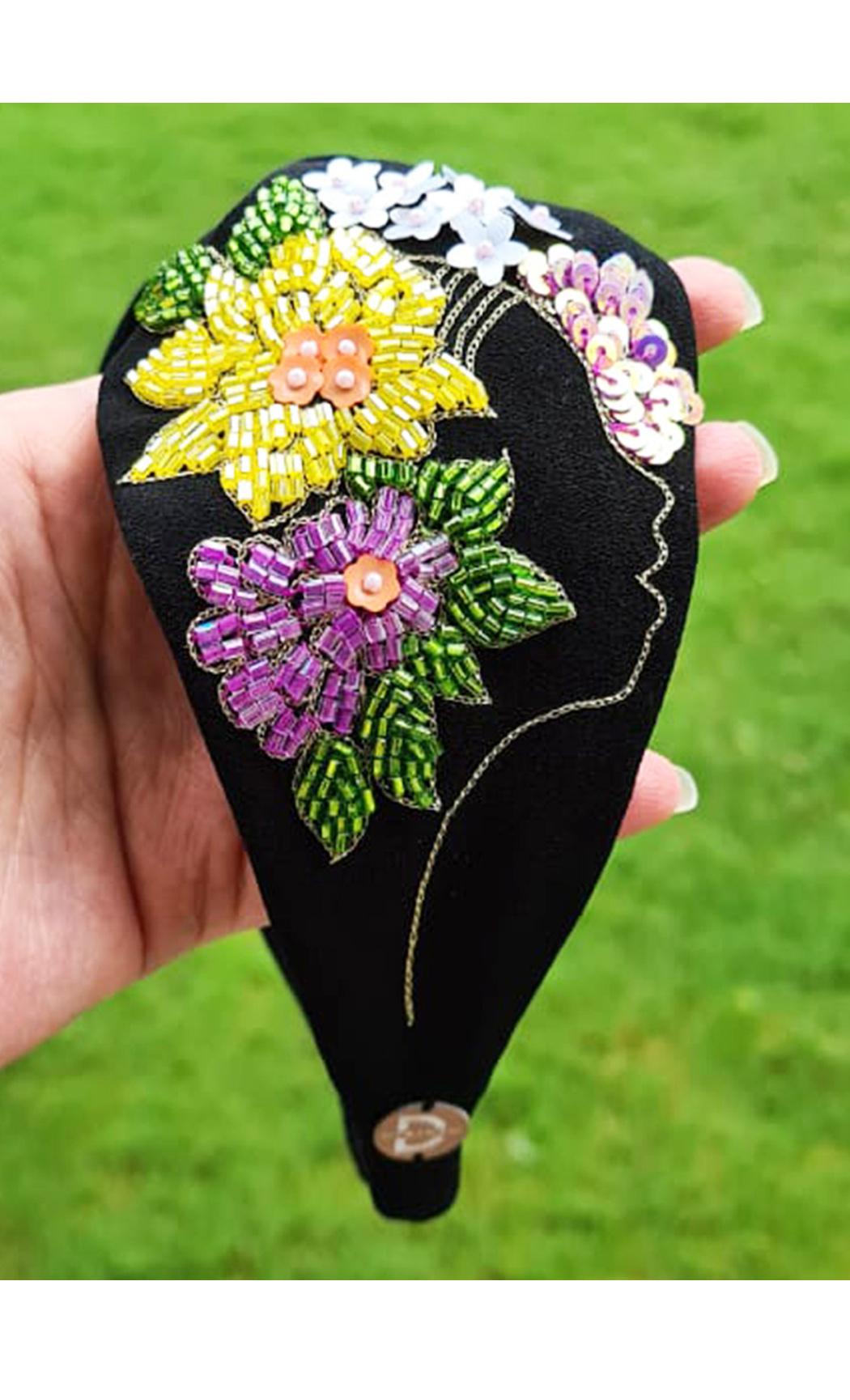 Black Flower Girl Hairband. Buy Online