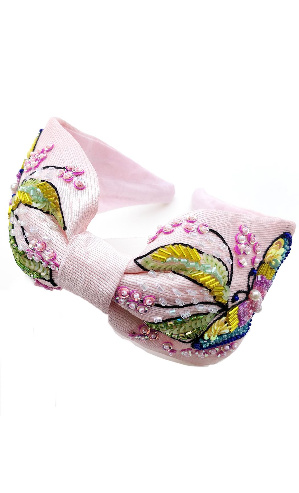 Pink Butterfly Women Hairband. Buy Online