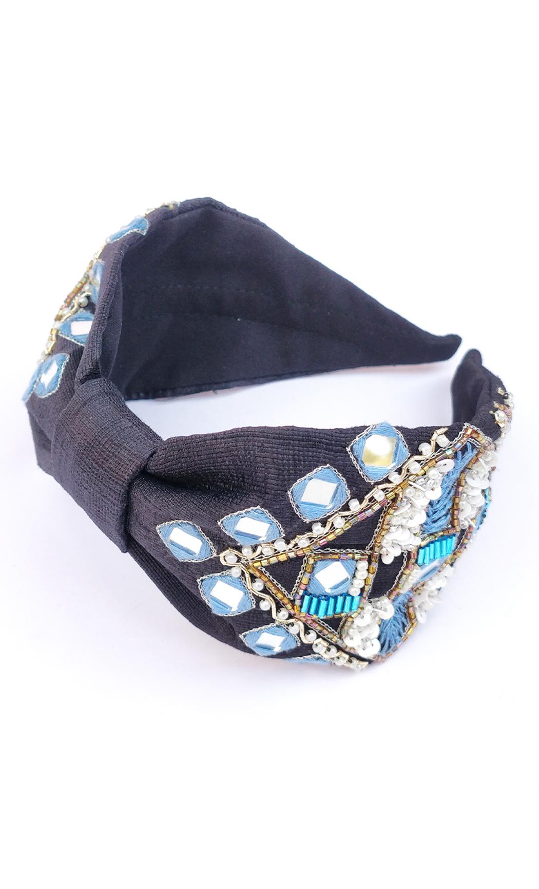 Black Tantalizing Mirror Hairband. Buy Online