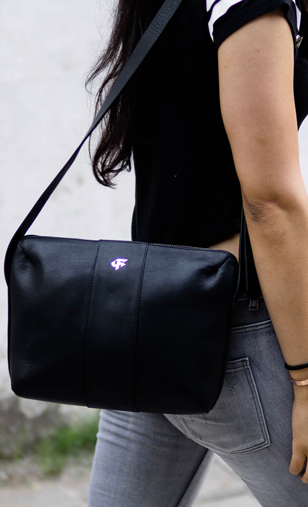 Black Women's Everyday Leather Sling Bag. Buy Online