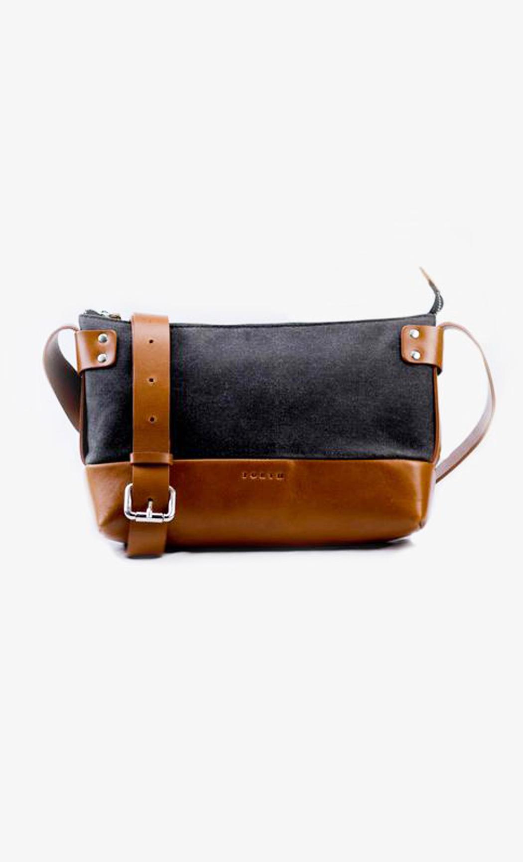 Grey and Black Women's Weekend Leather Sling Bag. Buy Online