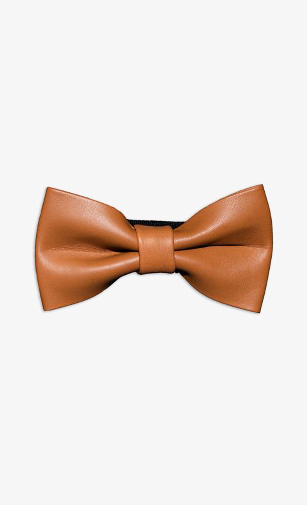 Light Brown Genuine Leather Bow Tie. Buy Online