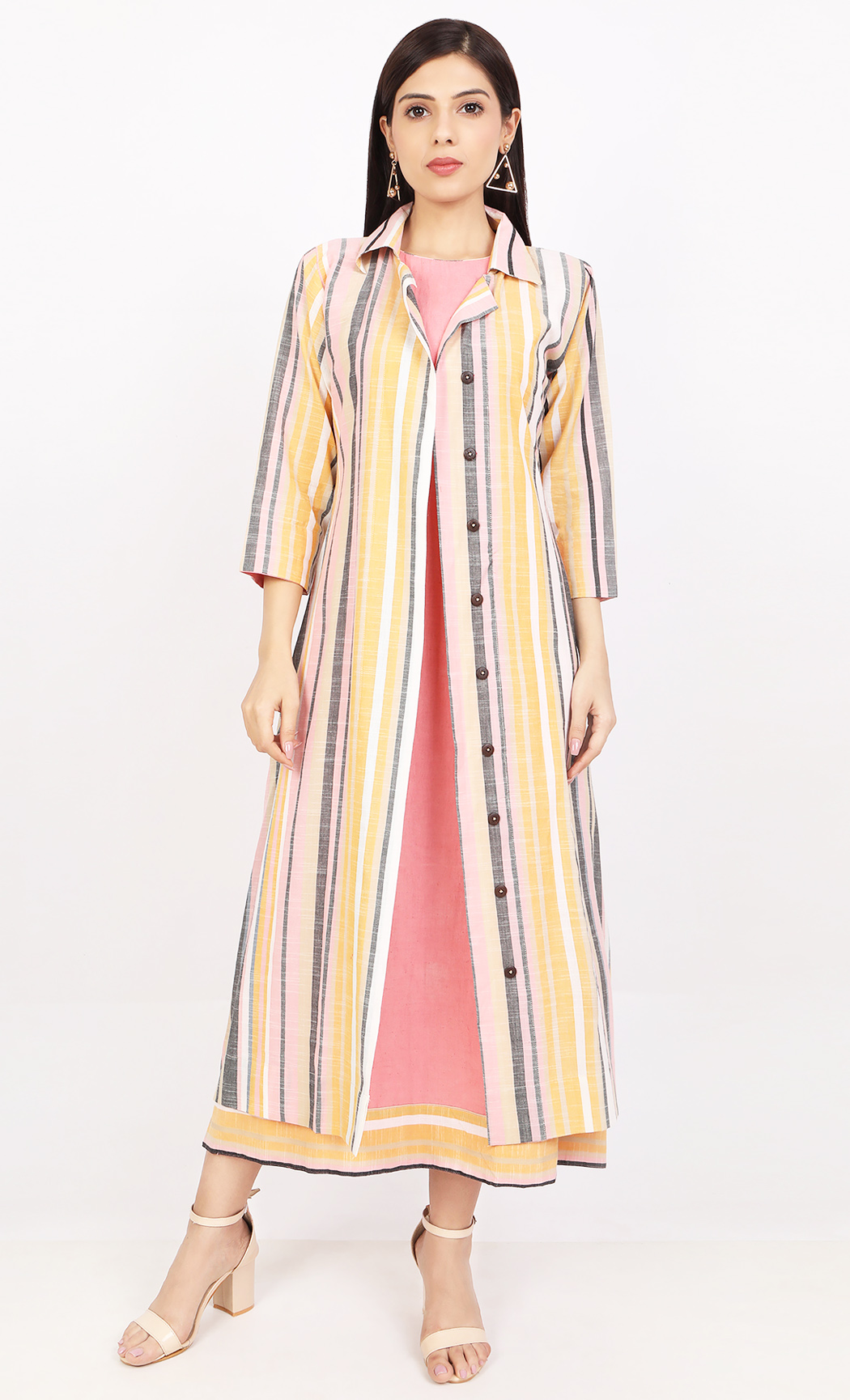 Multicolor Dress with Jacket. Buy Online