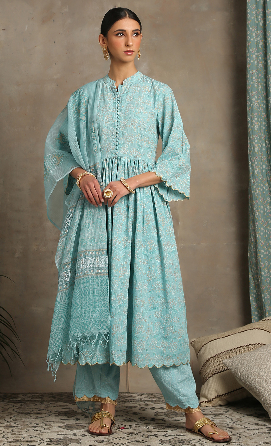Inaayat Amber - Blue Kurta Set. Buy Online