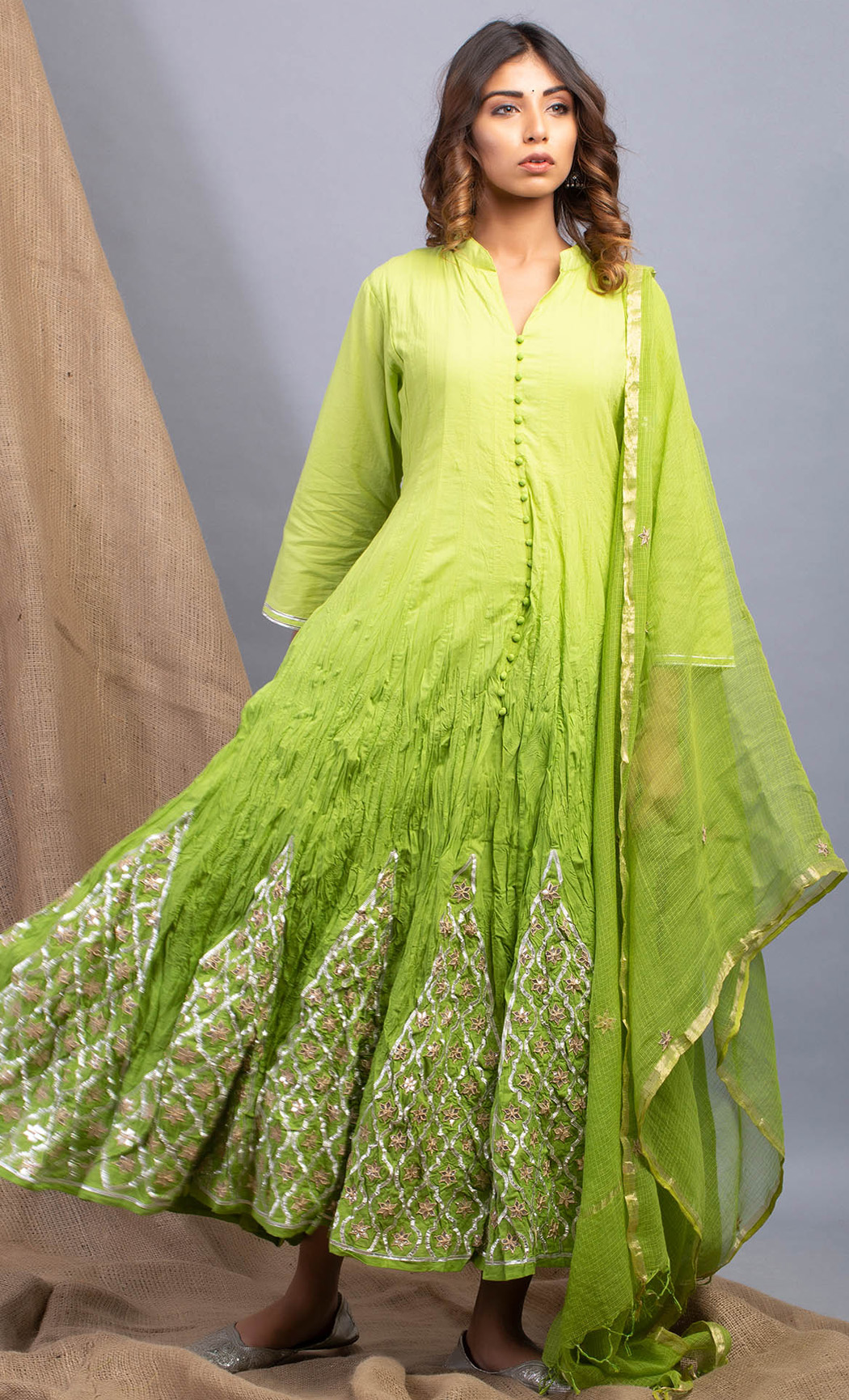 Evergreen Hue Green Kurta and Dupatta Set. Buy Online.