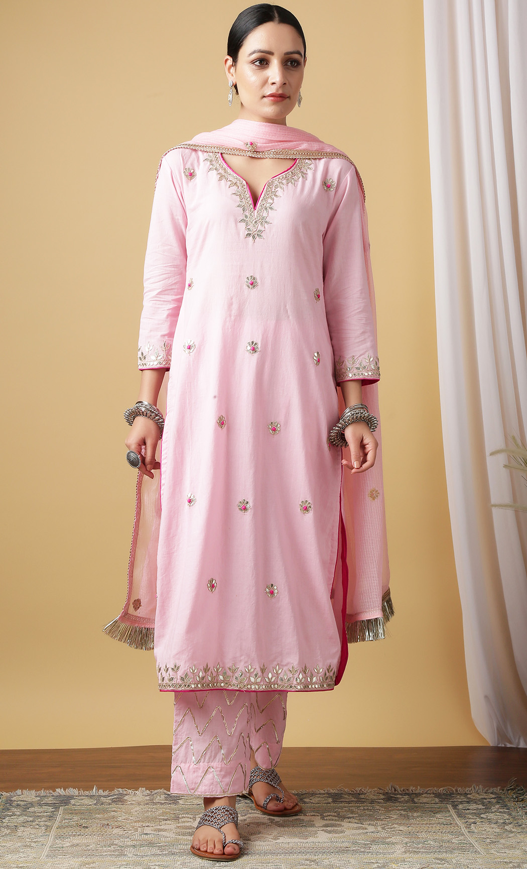 Nandini Gulaab Kurta and Pants Set. Buy Online.