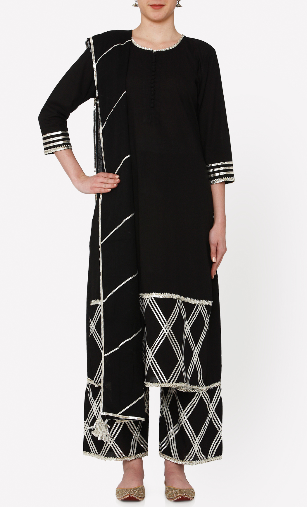 Padamja Black Kurta and Pants Set. Buy Online.