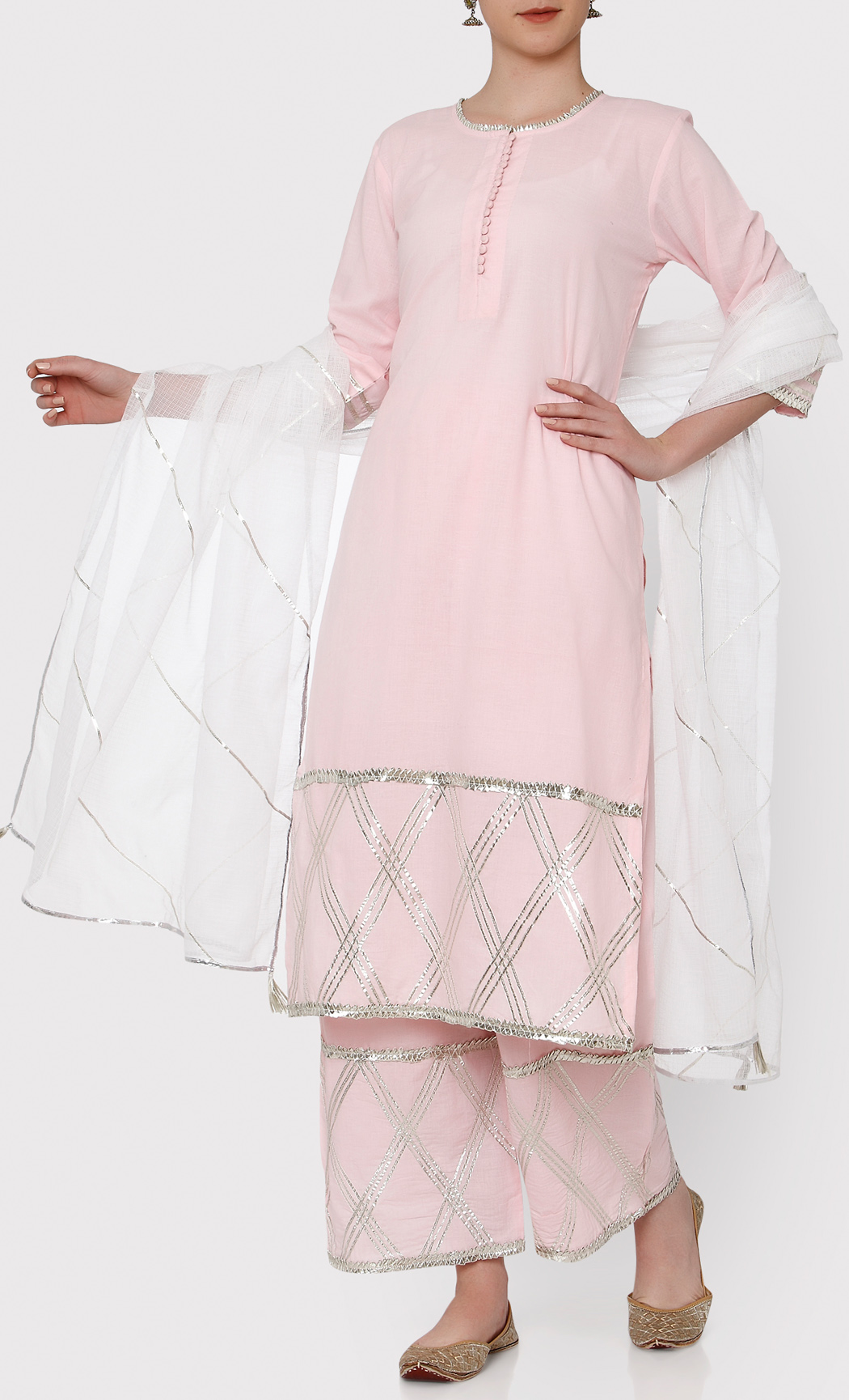 Padamja Pink Kurta and Pants Set. Buy Online.