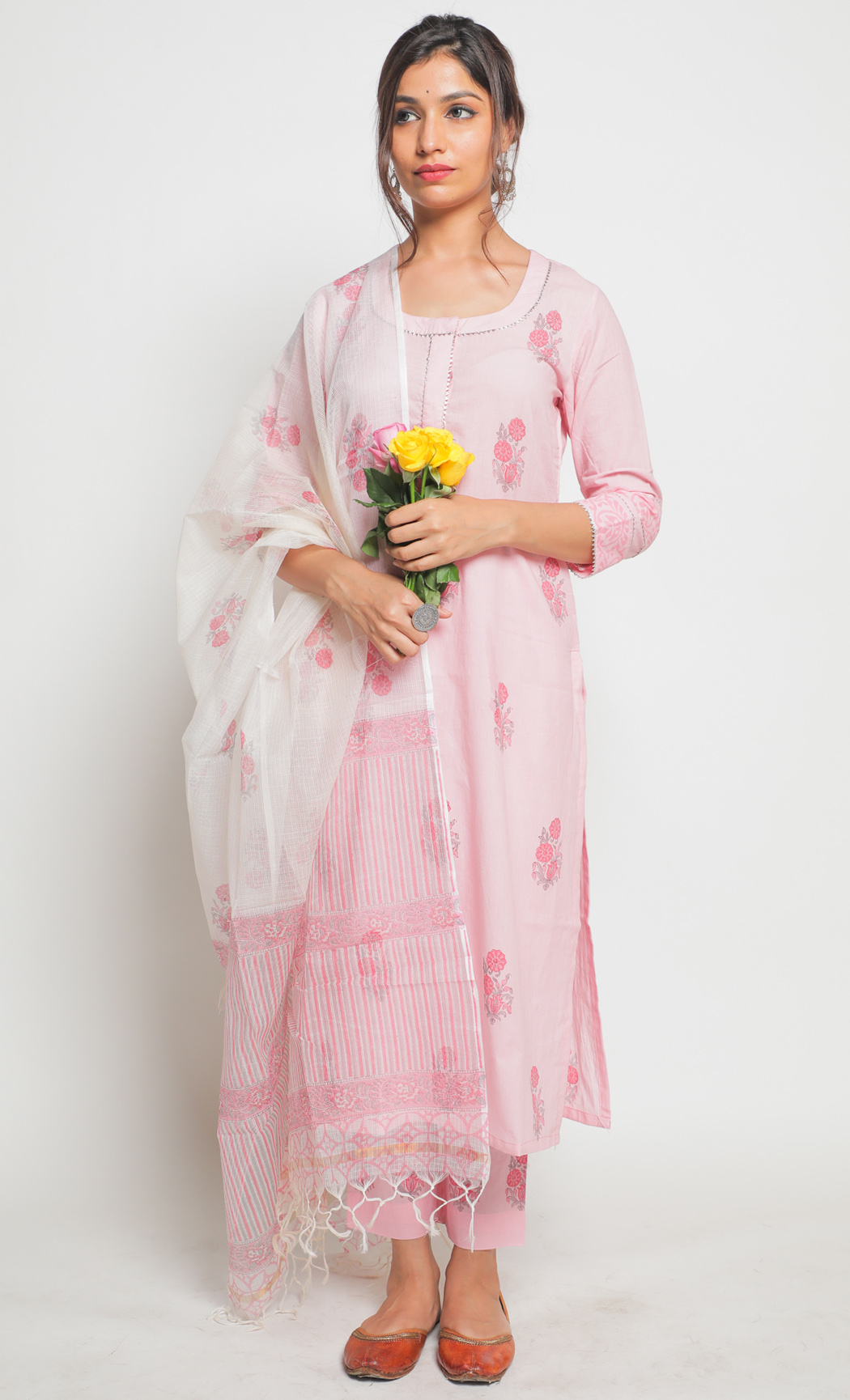 Gulaab Pink Kurta and Pants Set. Buy Online.