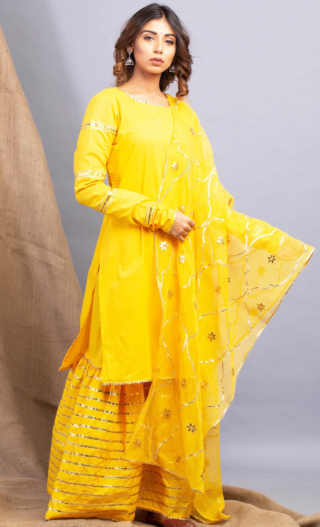 Umrao Haldi Kurta and Sharara Set. Buy Online.