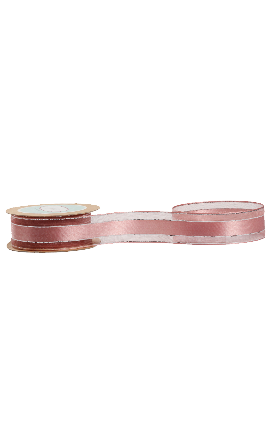 Dirty Rose Pink Sheer-Satin Ribbon - Buy Online