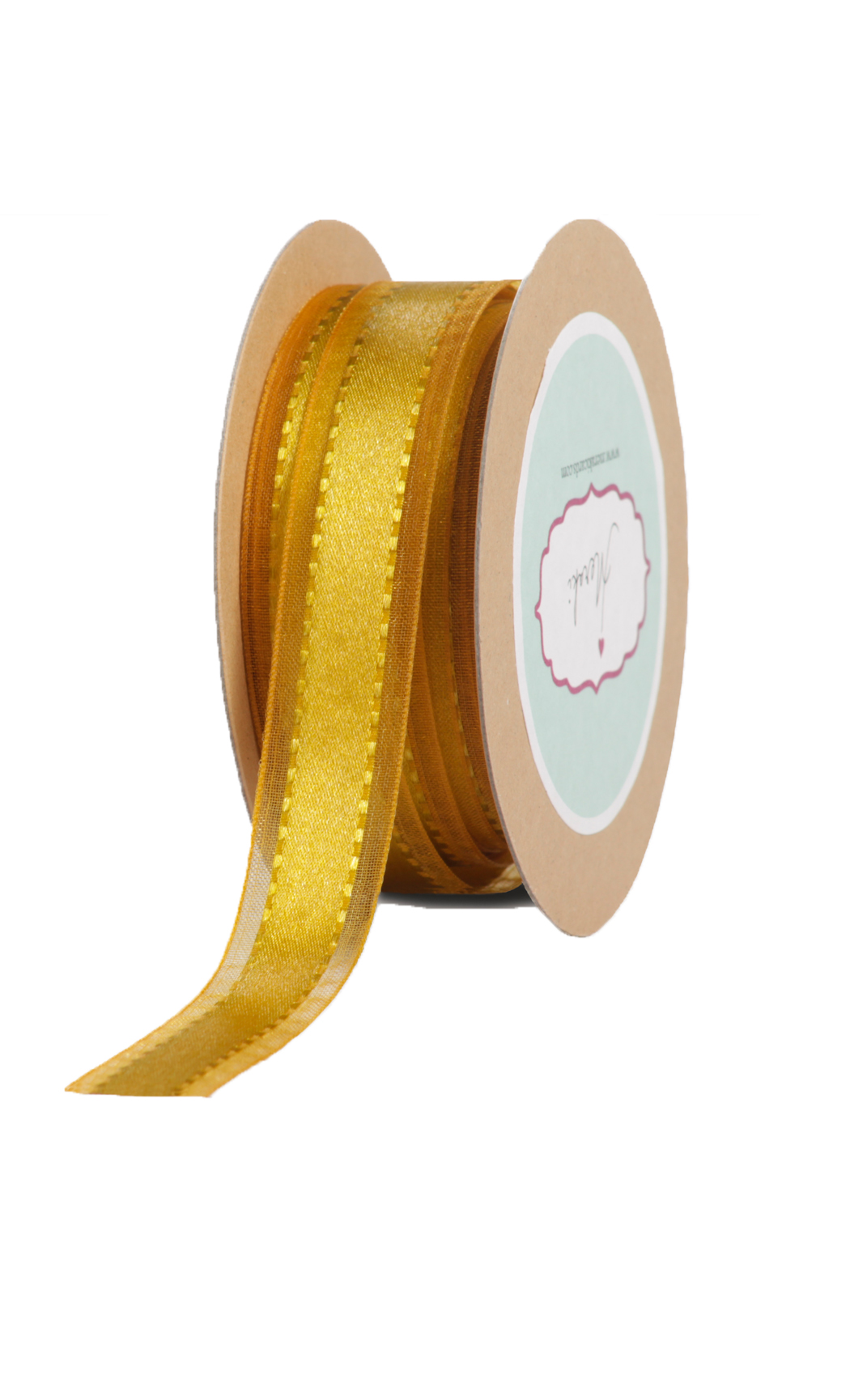 Mustard Gold Sheer-Satin Ribbon - Buy Online