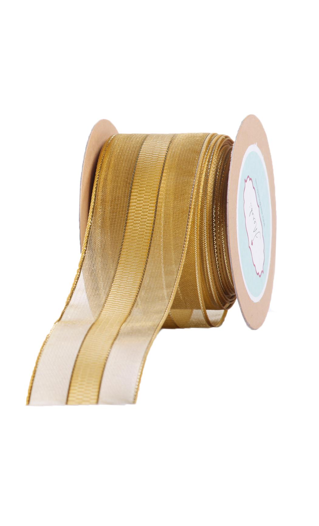 Gold Sheer-Checkered Ribbon - Buy Online
