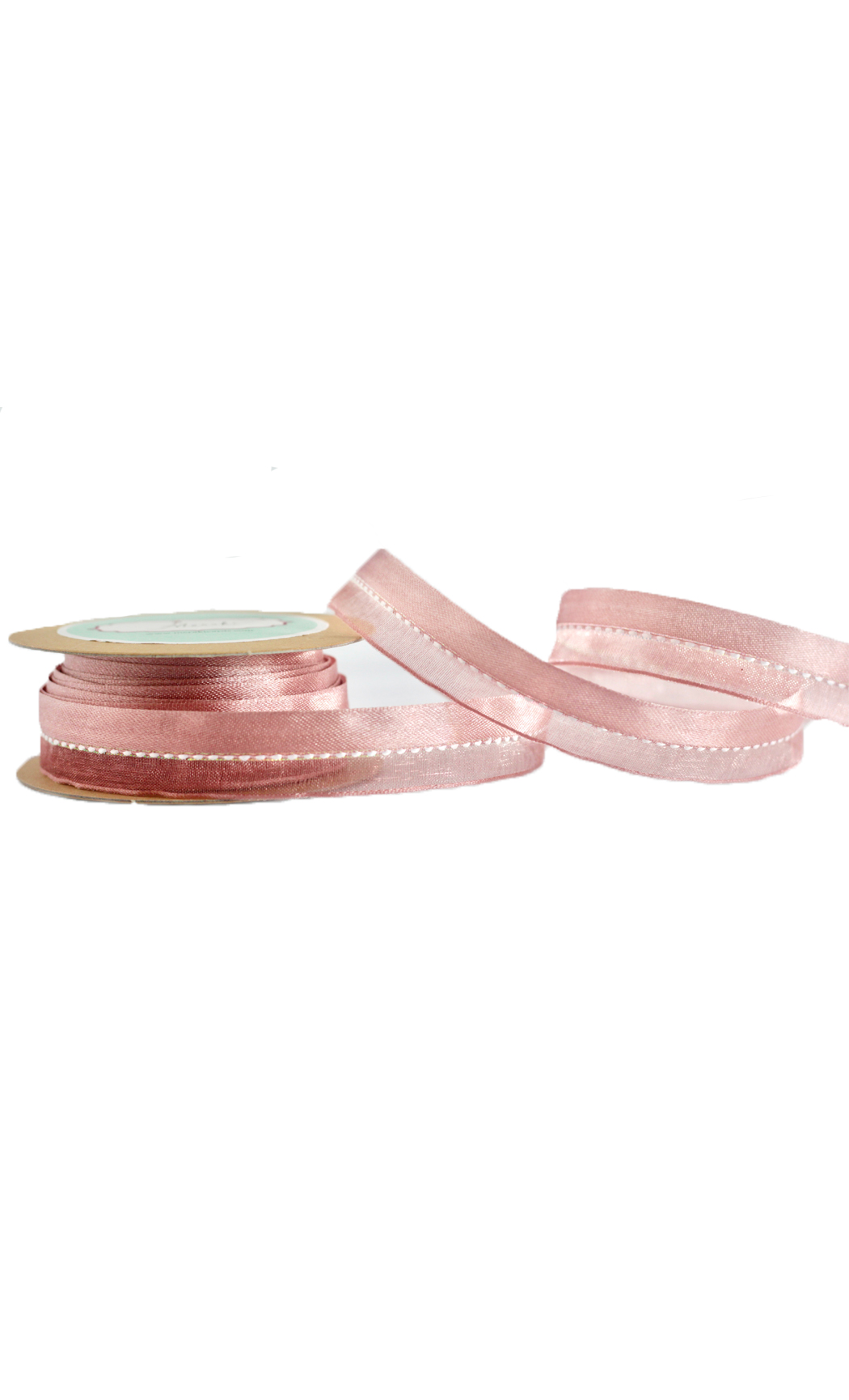 Dirty Rose Half and Half Ribbon - Buy Online