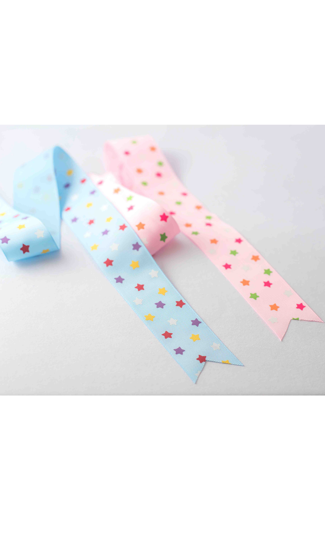 Pink Ribbon with Multicolored Stars - Buy Online