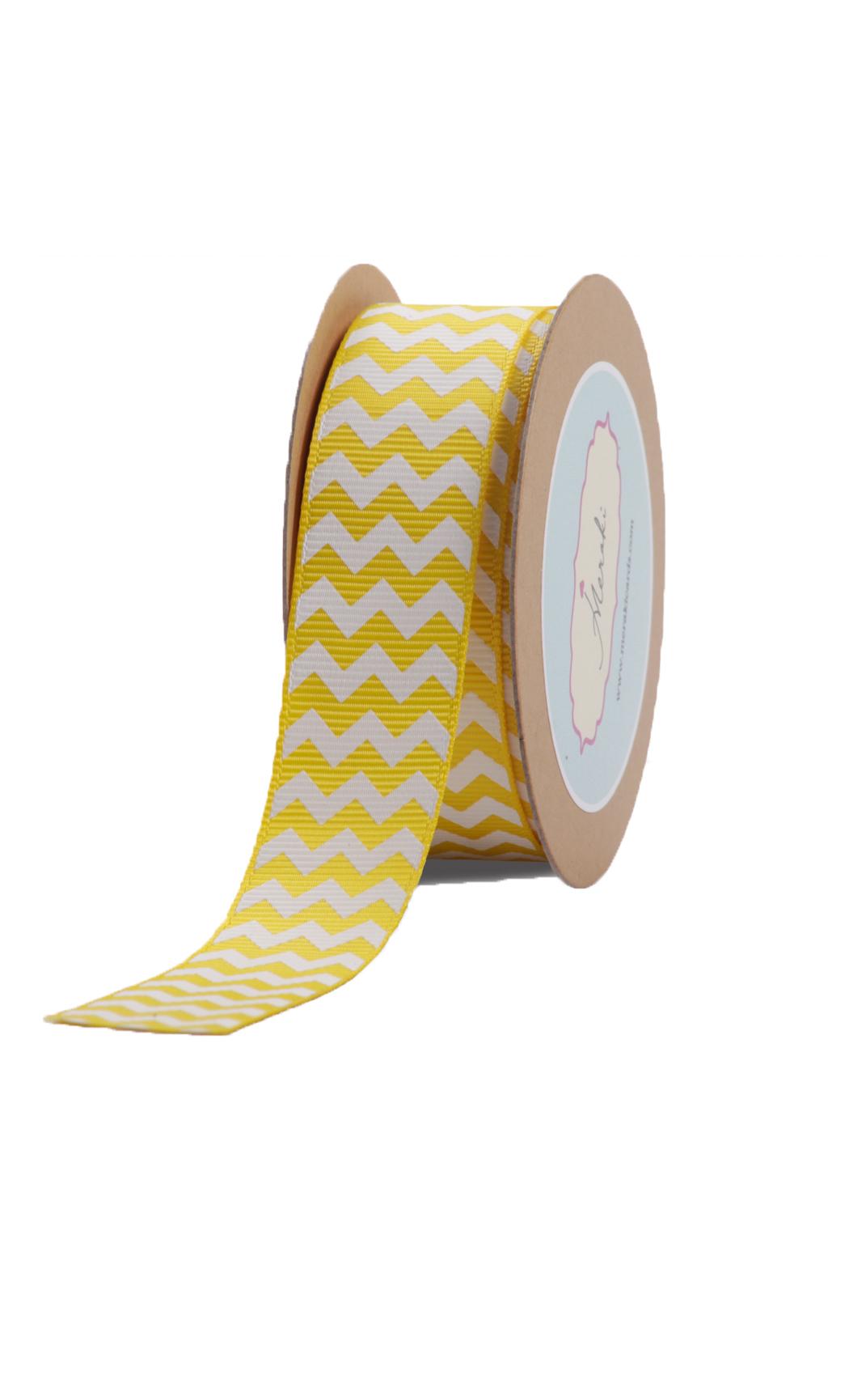 Yellow Chevron Ribbon- Buy Online