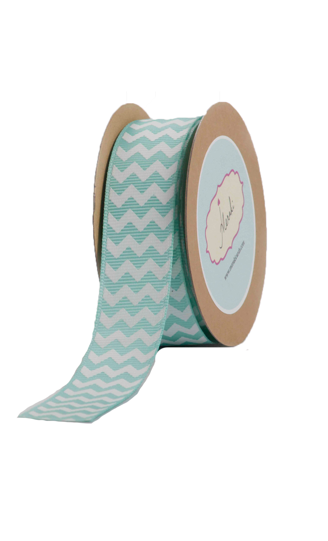 Aqua Chevron Ribbon - Buy Online