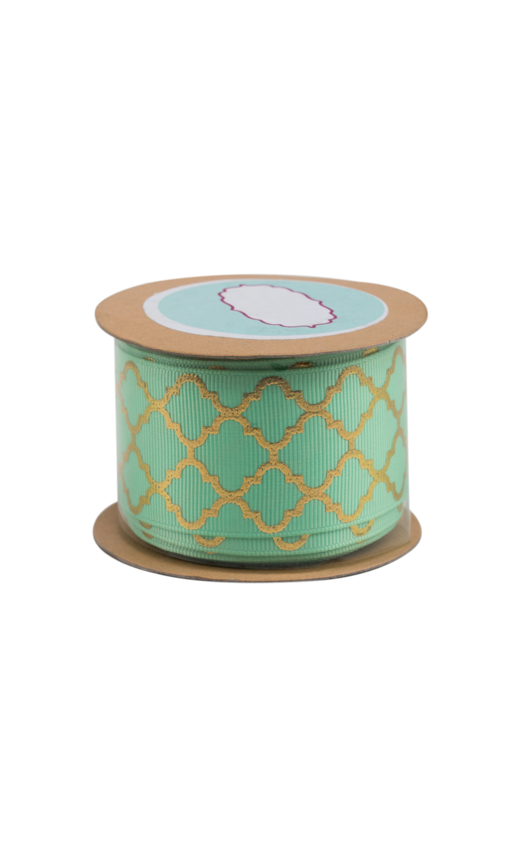 Mint and Gold Foiled Ribbon - Shop Online