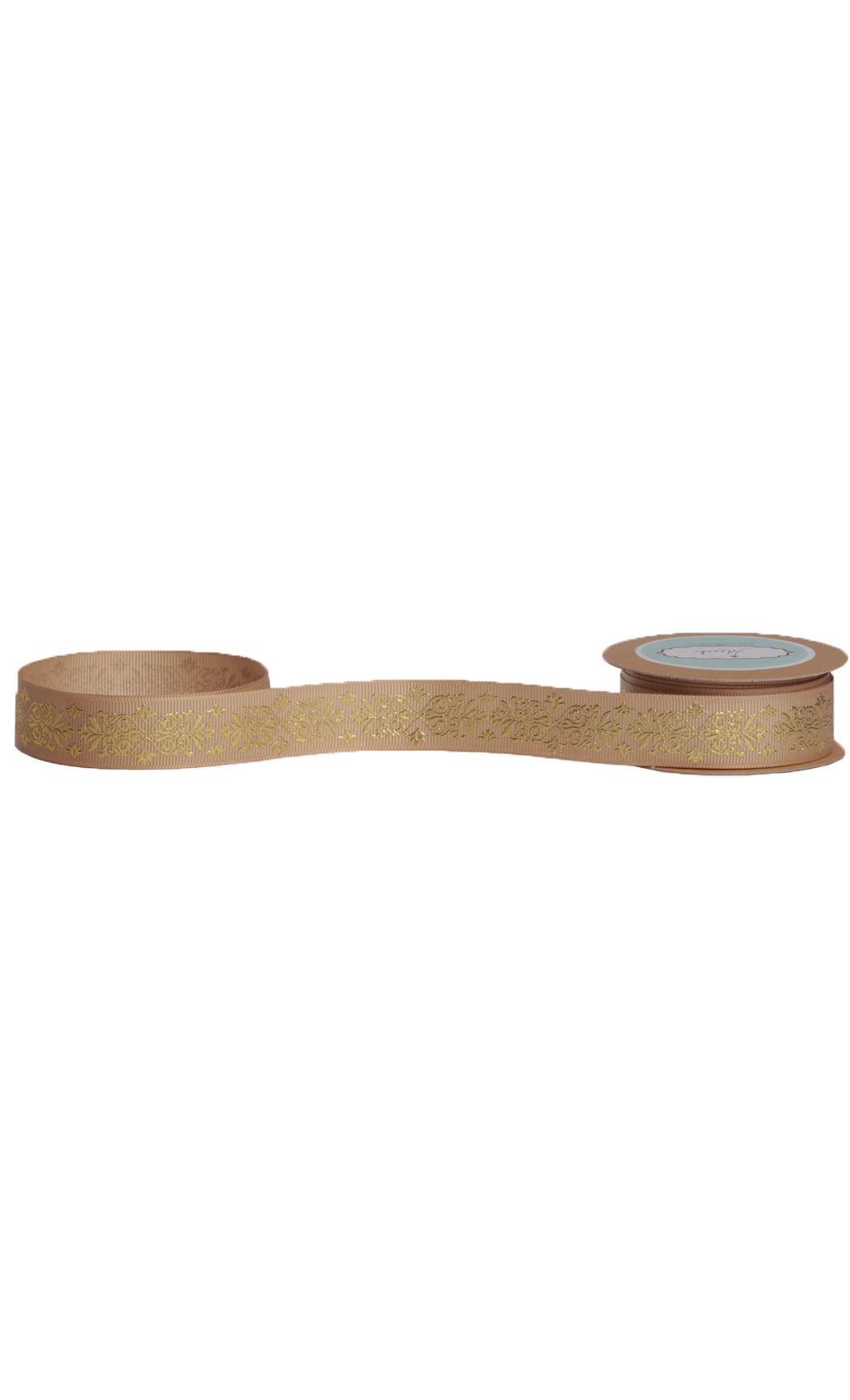 Desert Sand Gold Foiled Ribbon - Buy Online