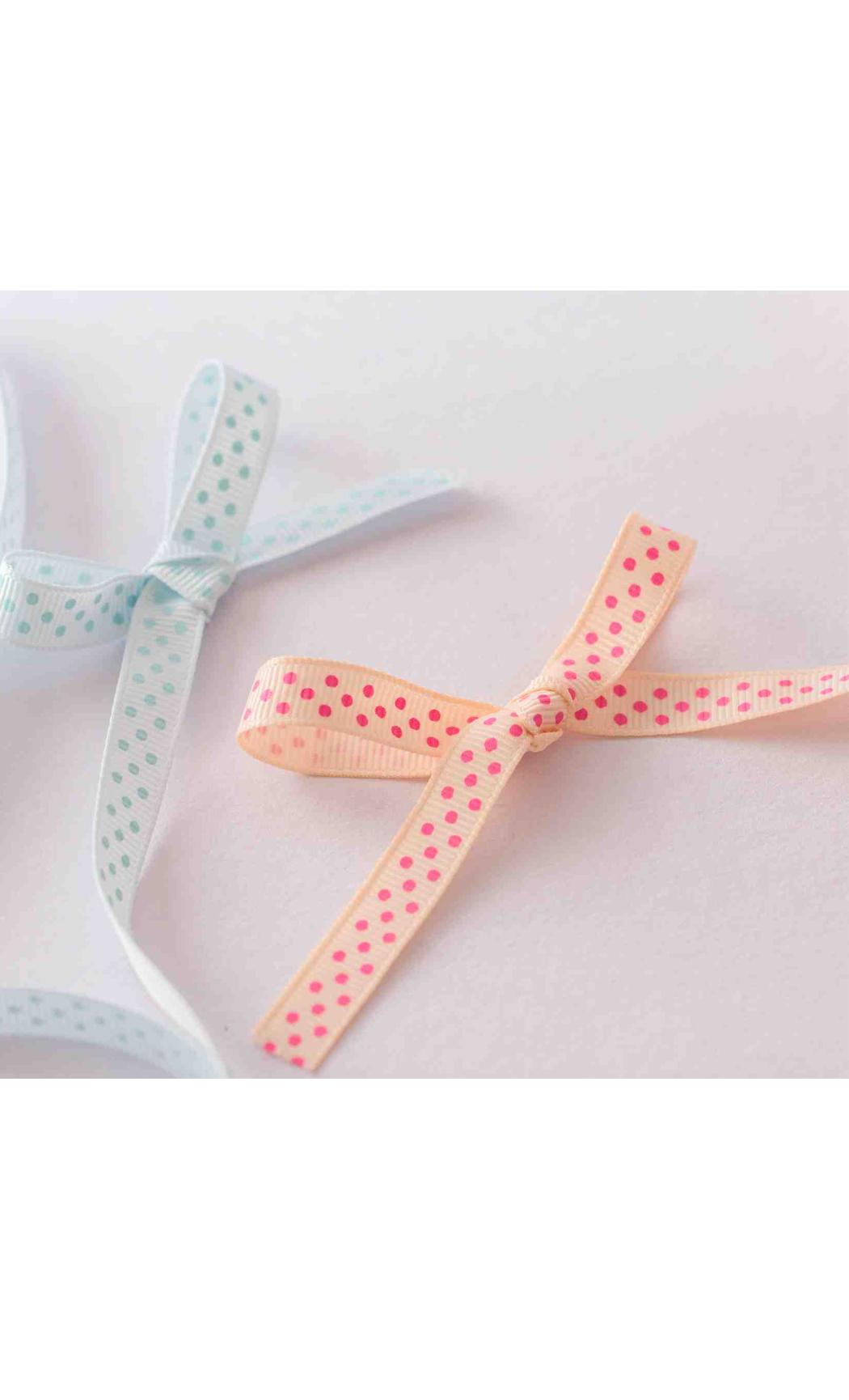 Light Blue Ribbon with Sky Blue Polka Dots - Buy Online