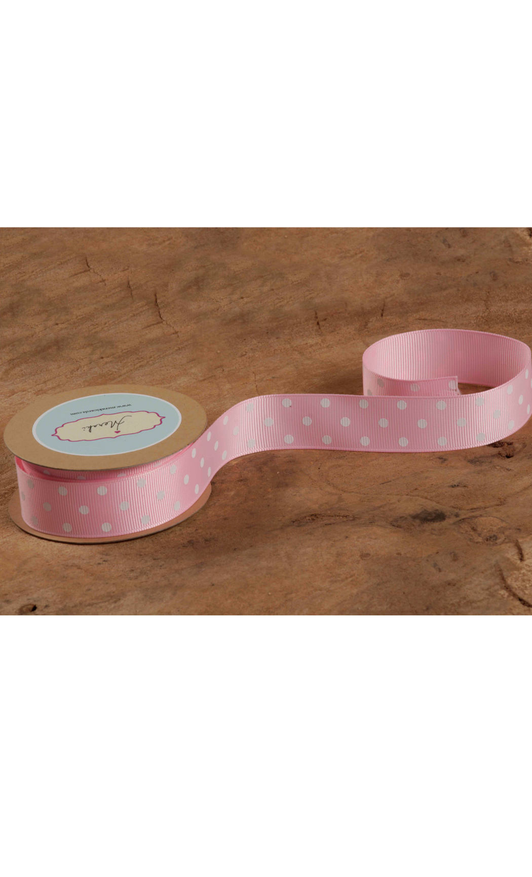 Pink Ribbon with White Polka Dots - Buy Online