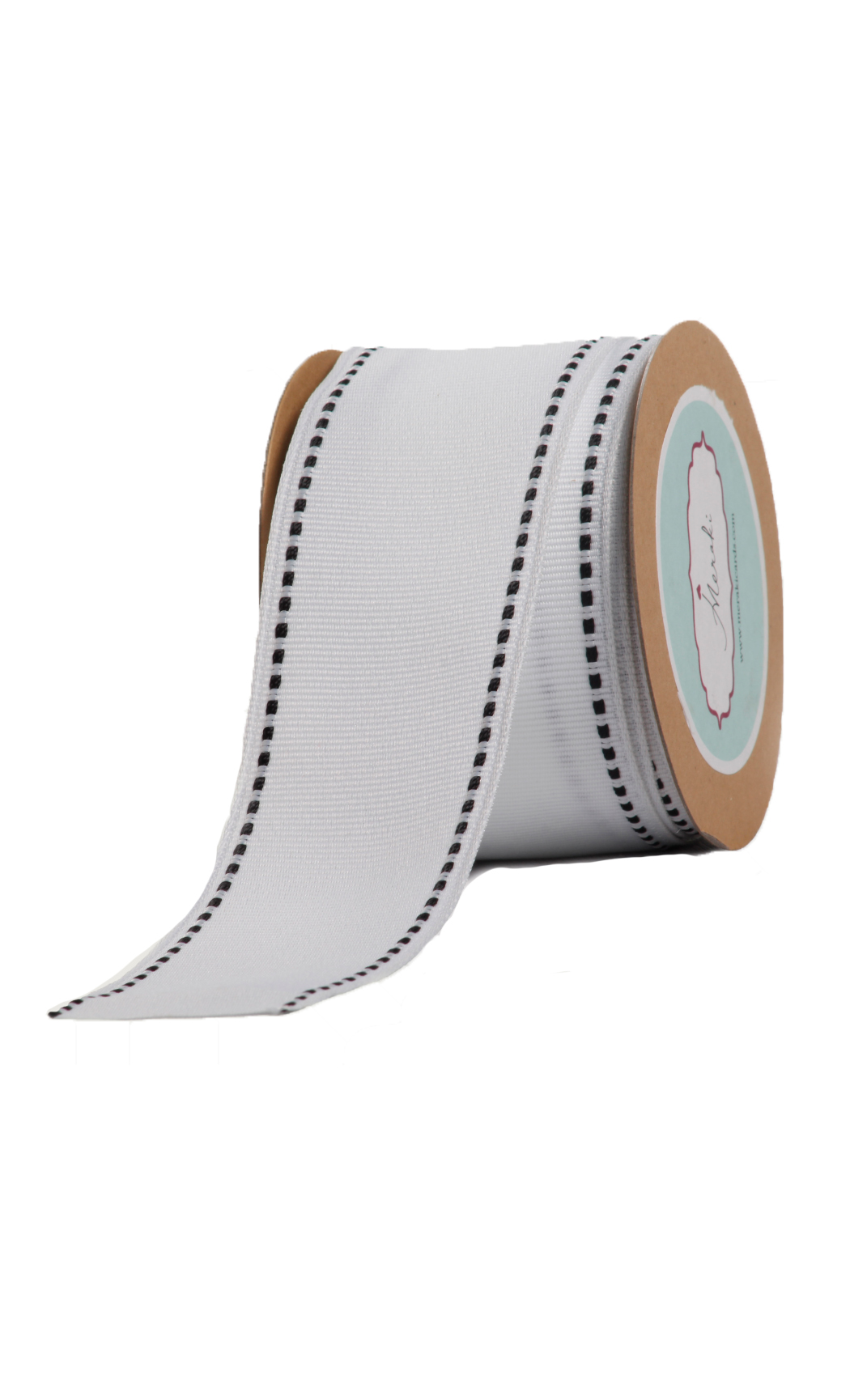 Wired Ivory Grosgrain Ribbon - Shop Now