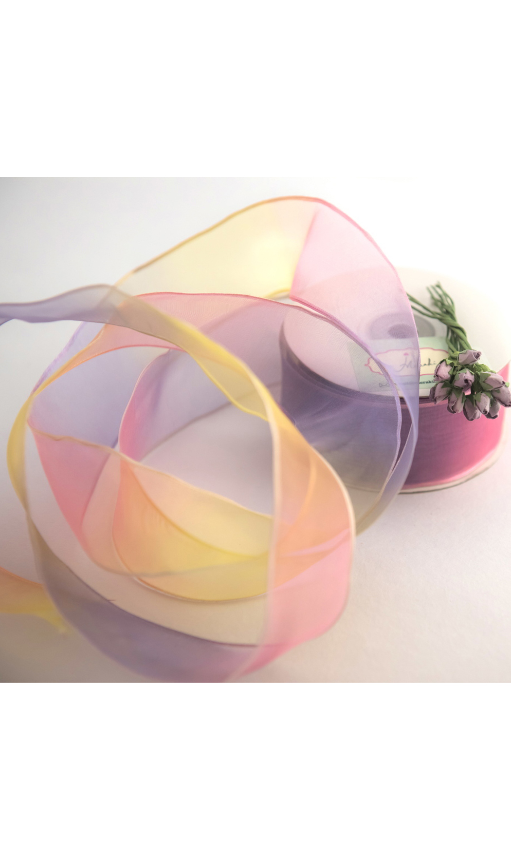 Buy Multicolored Shaded Wired Ribbon Online