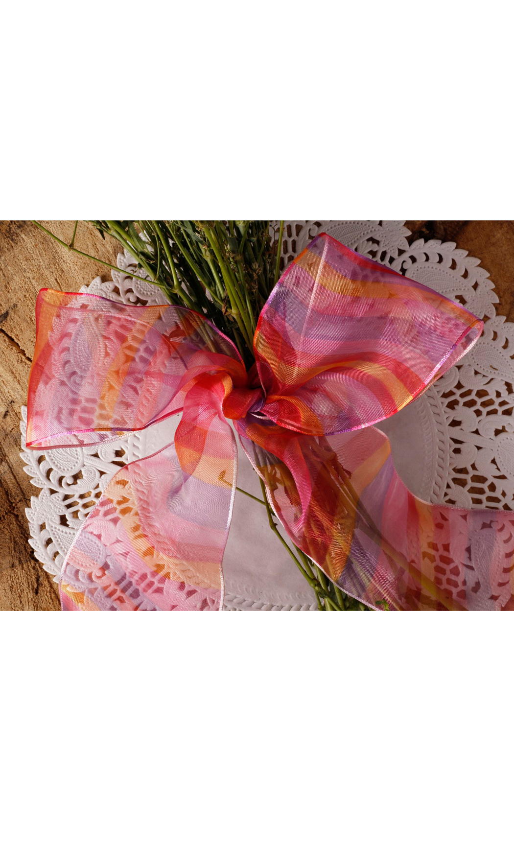 Buy Multicolored Shaded Wired Ribbon Online.