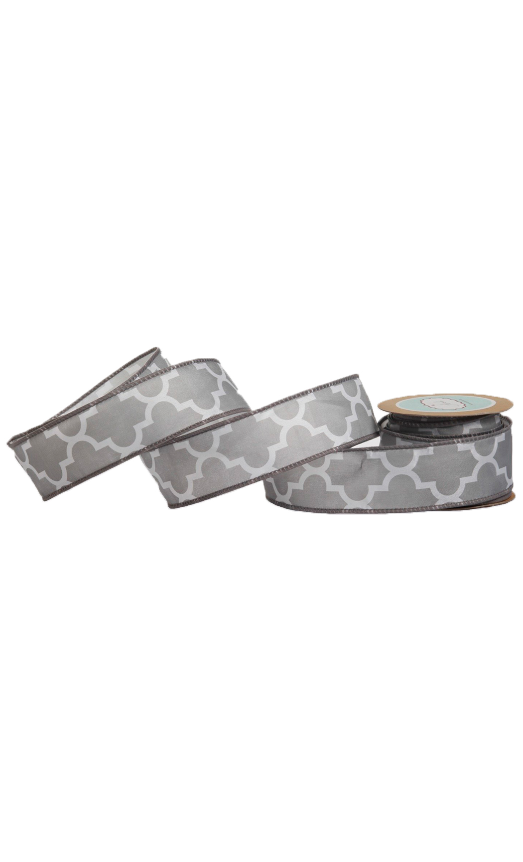 Grey Tile Pattern Nylon Ribbon - Buy Online