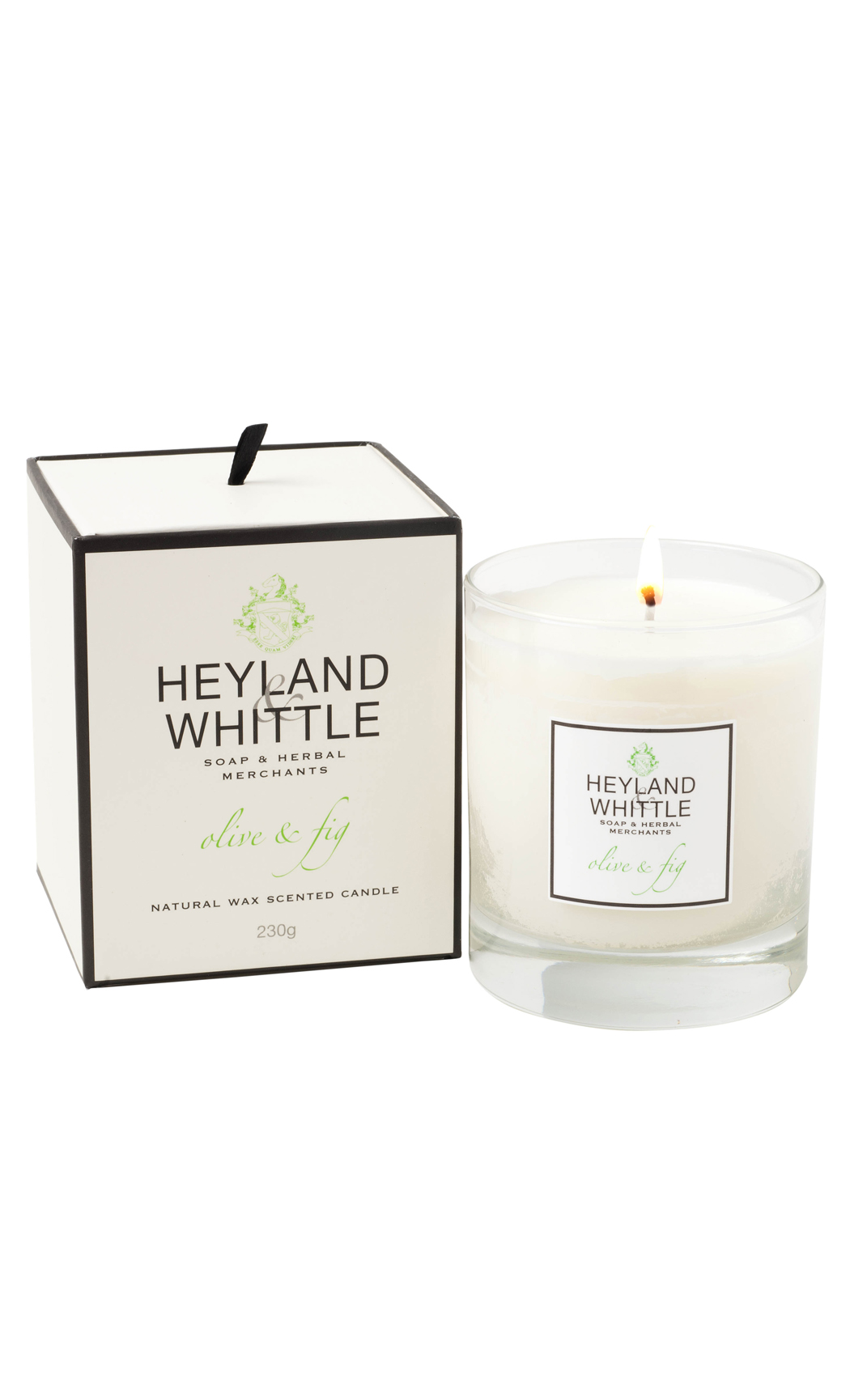 Olive & FIg Scented Soy Wax Candle by Heyland & Whittle