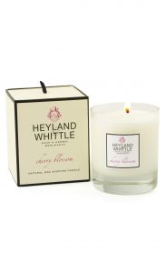 Cherry Blossom Scented Soy Wax Candle by Heyland & Whittle