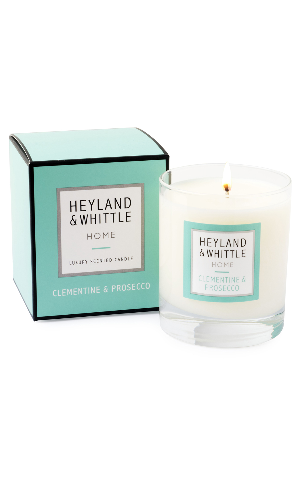 Clementine & Prosecco Scented Soy Wax Candle by Heyland & Whittle