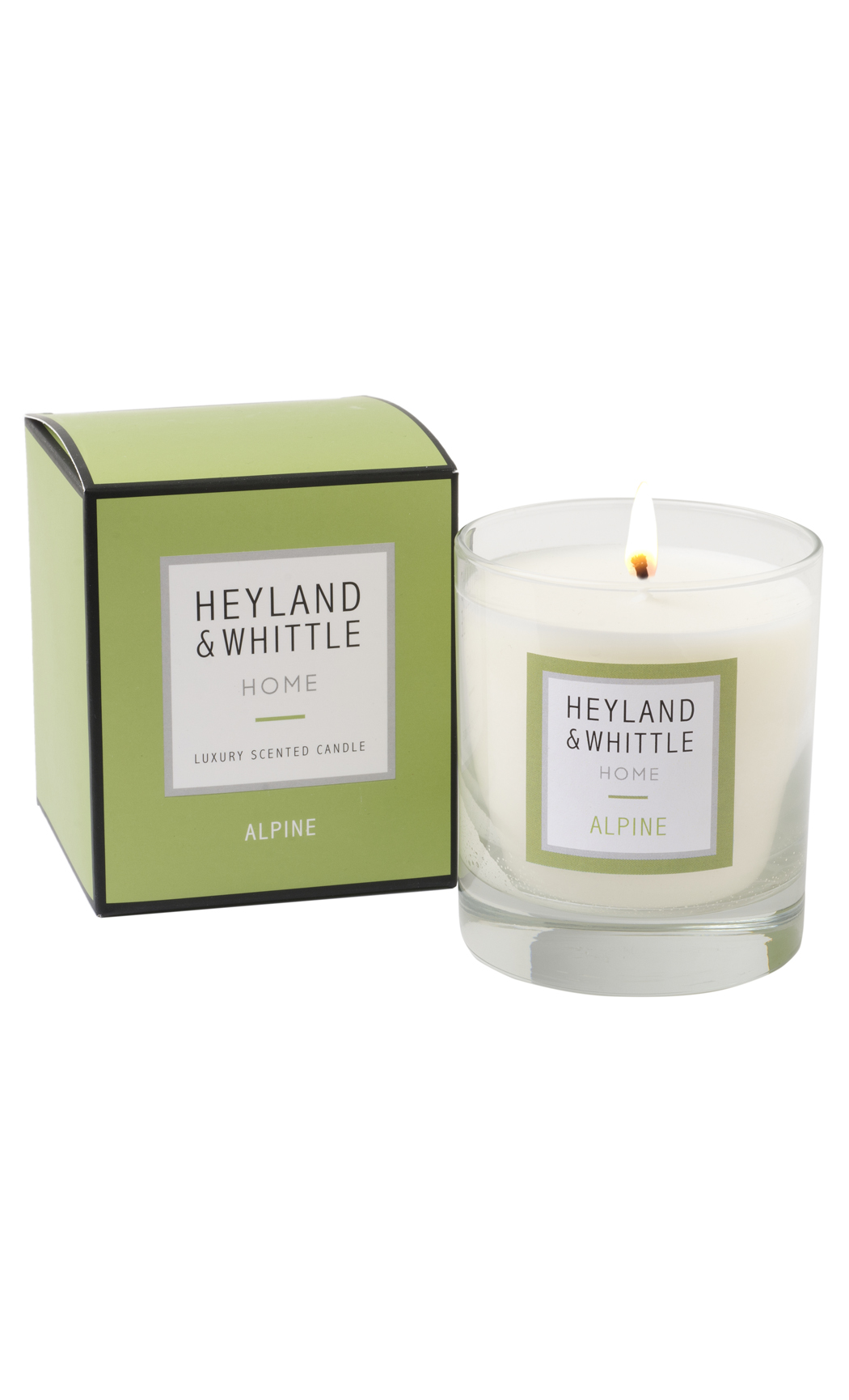 Alpine Scented Soy Wax Candle by Heyland & Whittle
