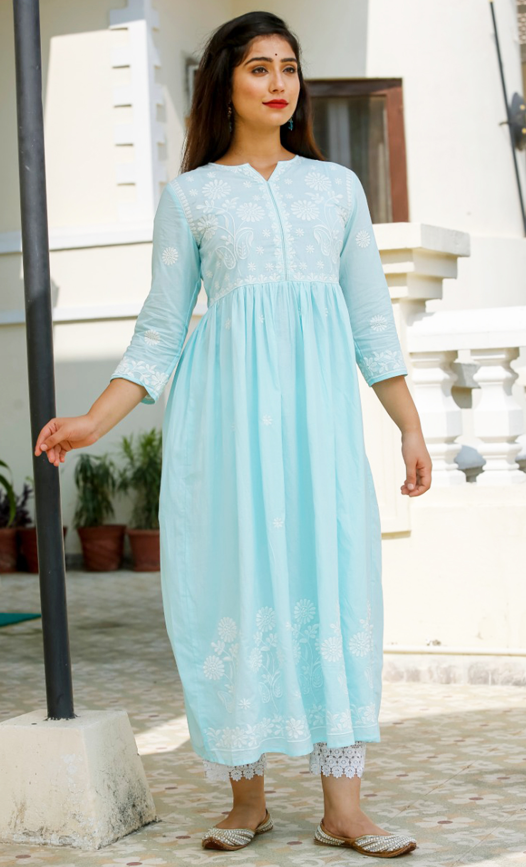 Blue Cotton Kurta Set. Buy Online.