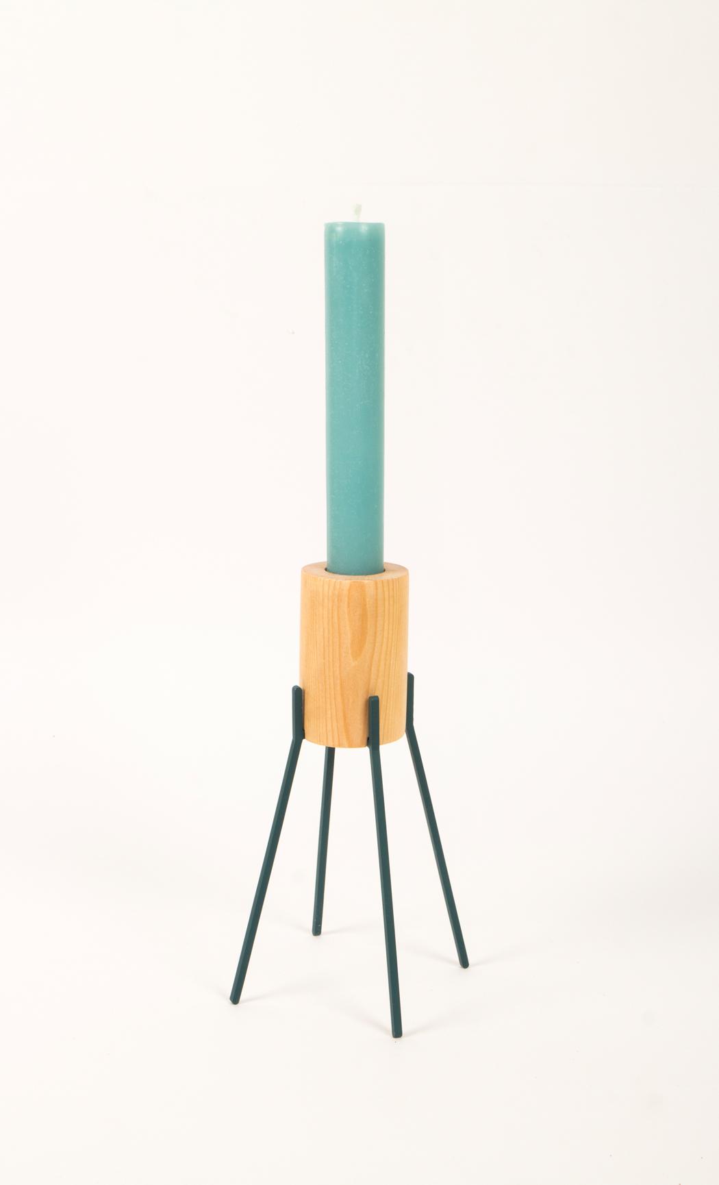 Fyre Large Candle Holder- Deep Blue