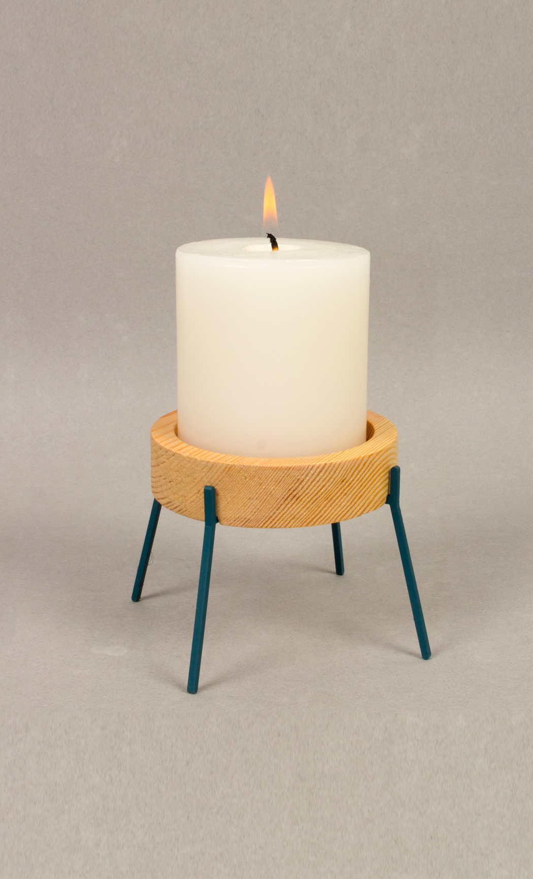 Fyre Medium Candle Holder- Deep Blue
