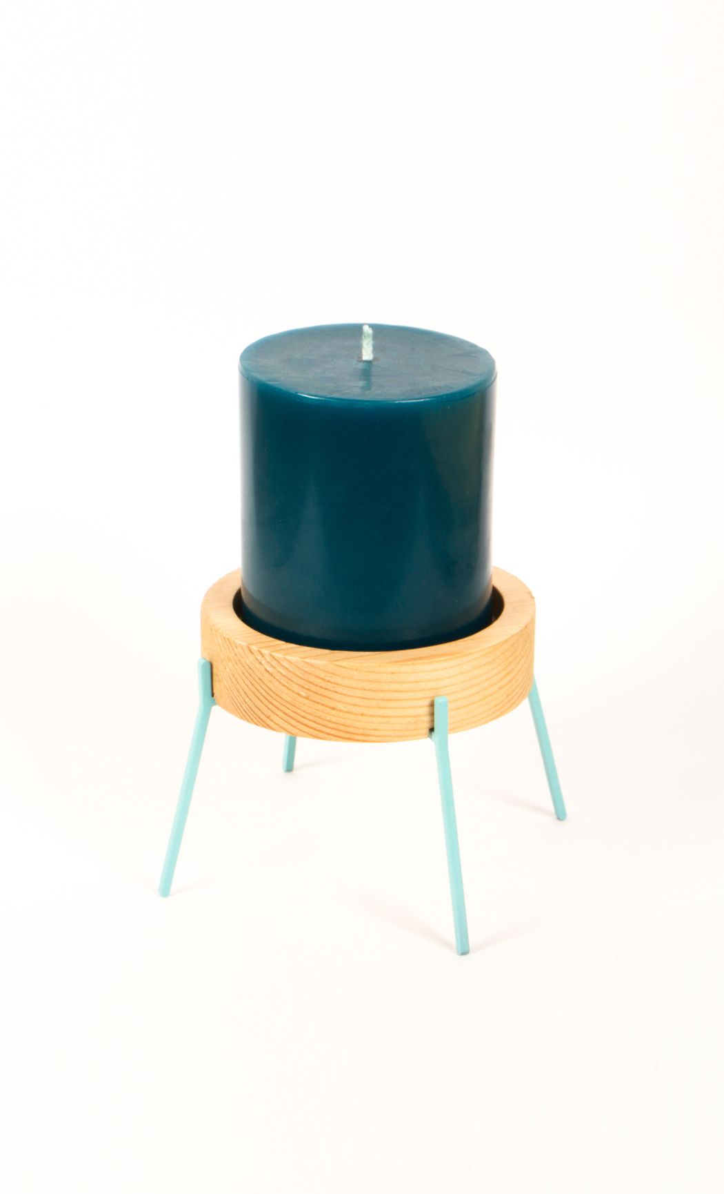 Fyre Medium Candle Holder- Light Blue