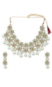 Kundan Necklace and Earring Set - Shop Online