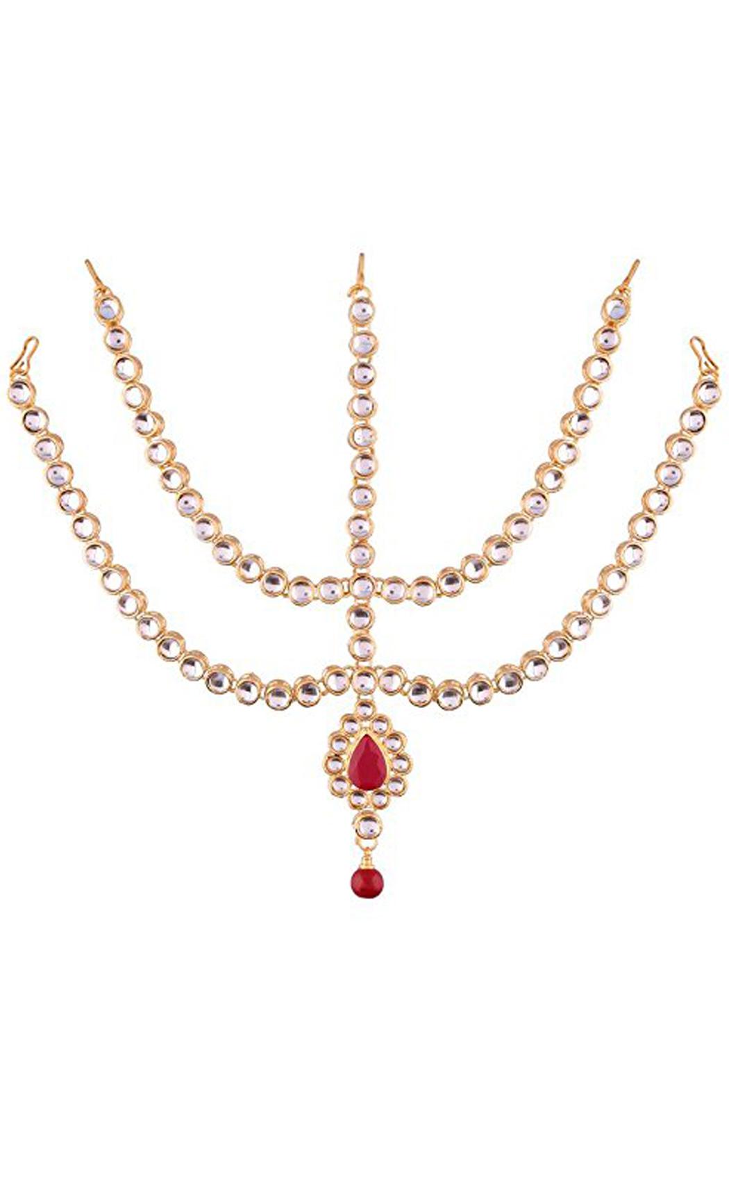 Bridal Matha Patti Gold Five Line Kundan | Indian Wedding and Bridal Jewellery Collection