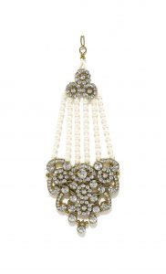 Gold Plated Pearl Passa with Artifical Diamonds - Shop Online