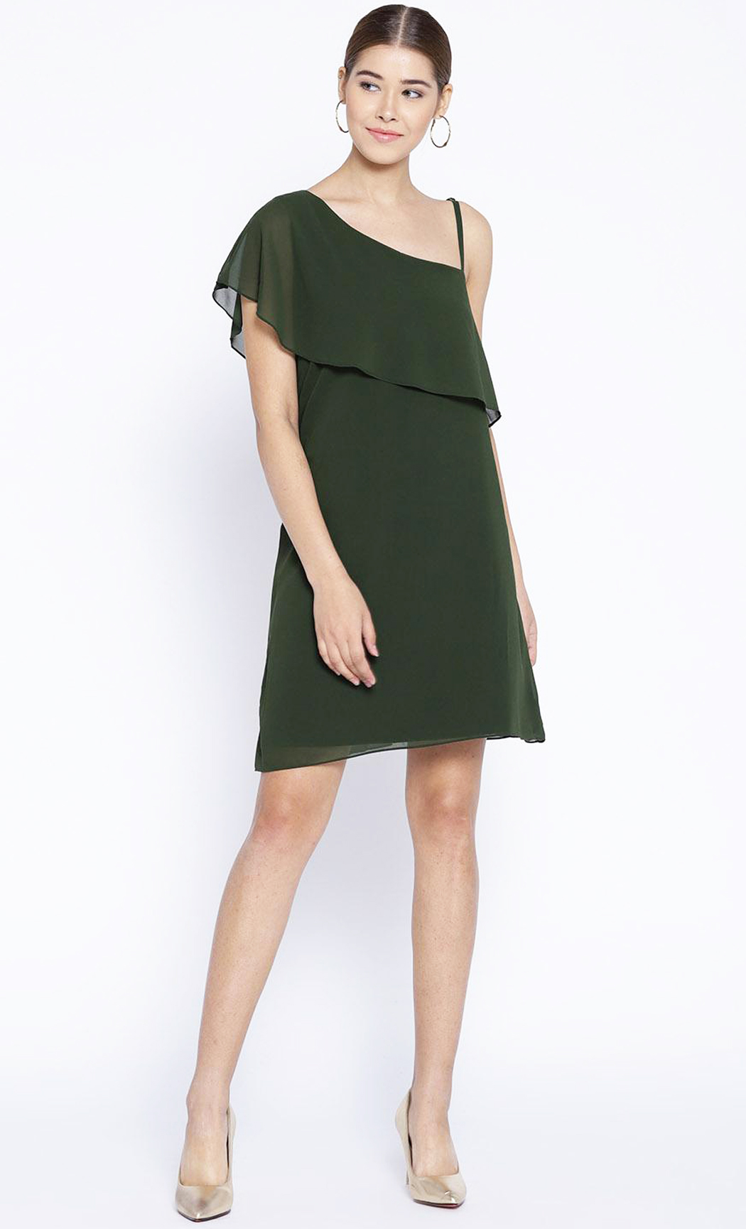 Green Madame Prissy One Shoulder Dress. Buy Online