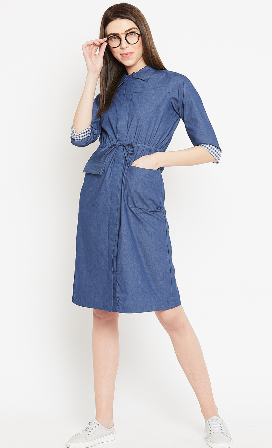 Blue Work It Girl Periwinkle Shirt Dress. Buy Online