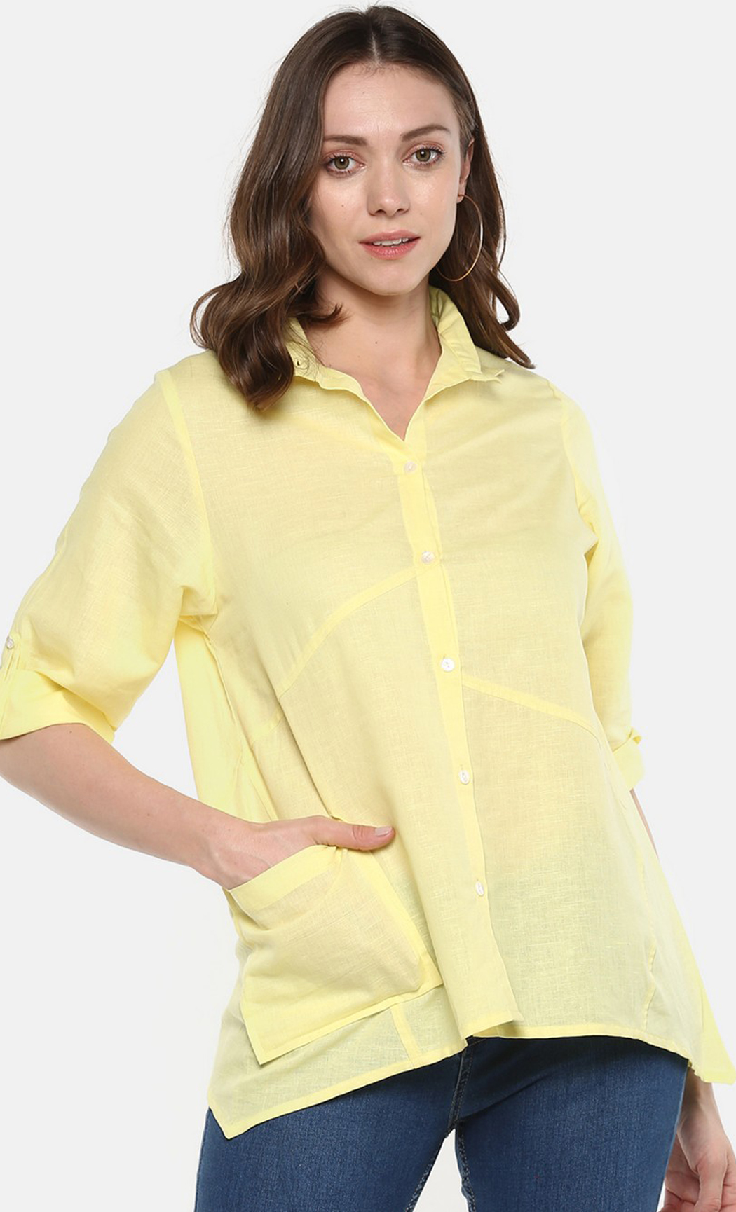 Perfection is Overrated Yellow Linen Shirt. Buy Online