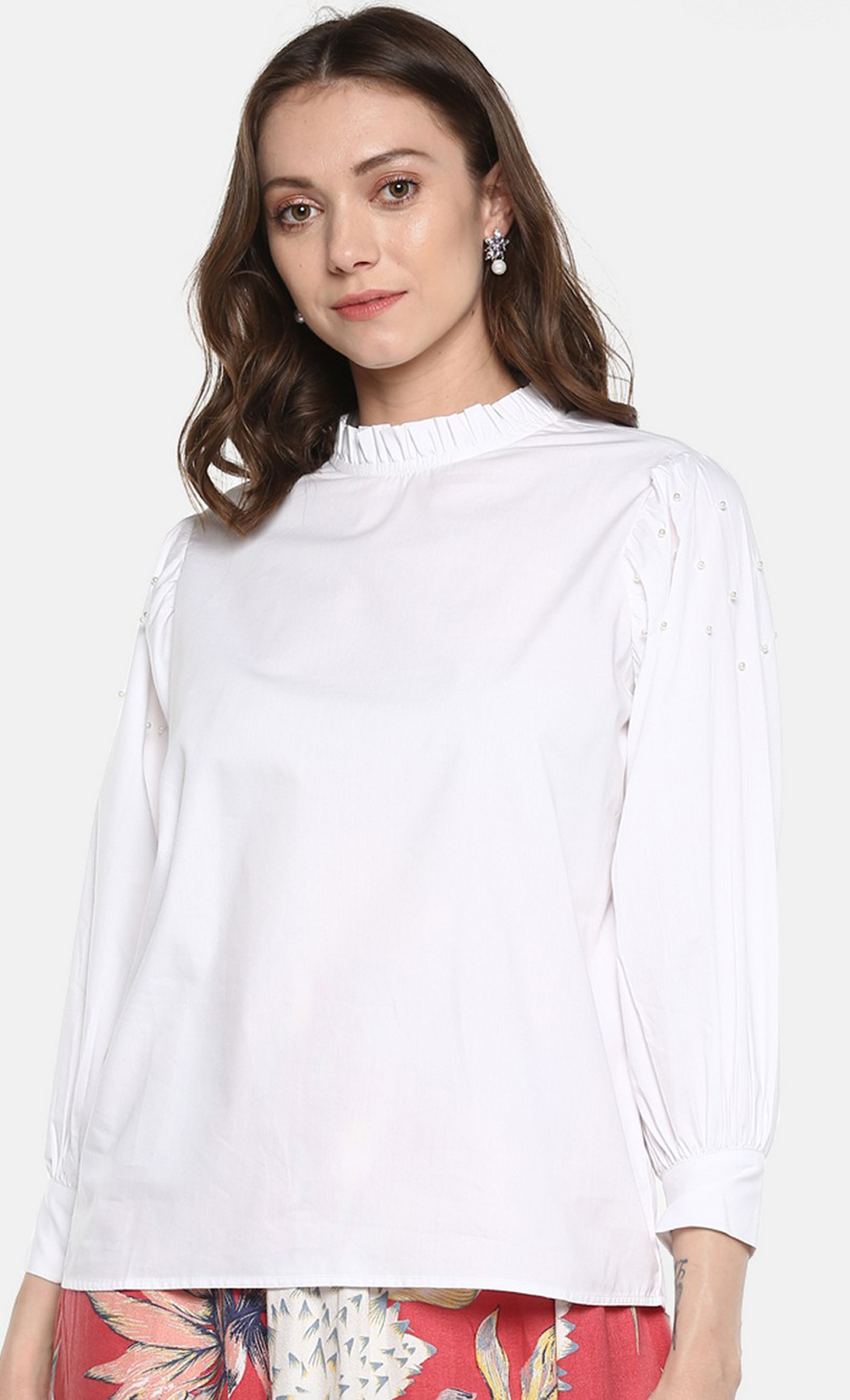 White Wonders and Whims Beaded Top. Buy Online